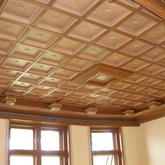потолок дубовый