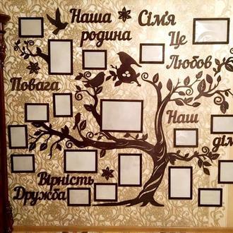 """Семейное дерево """"Наша родина""""270х170 см."""