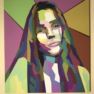 Картина на холсте портрет в стиле поп-арт