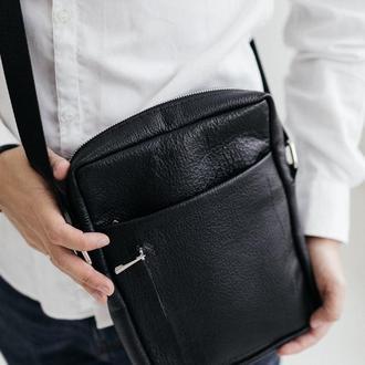 Мужская сумка-мессенджер, кожаная сумка через плечо, барсетка мужская