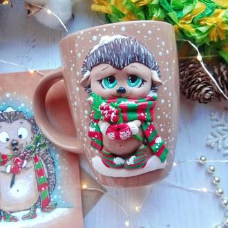 Чашка с декором Ёжик