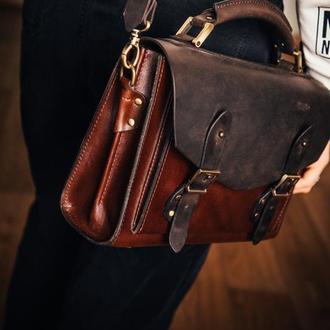 """""""Сoach"""" cумка портфель из натуральной кожи/подарок девушке"""
