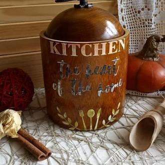 """Короб из дерева """"Kitchen"""" для сыпучих"""