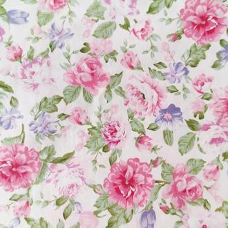 """Ткань хлопок """"Садовые цветы"""". Отрез 40*50 см."""