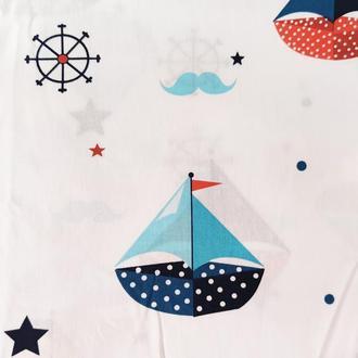 "Ткань хлопок ""Море"". Отрез 40*50 см."