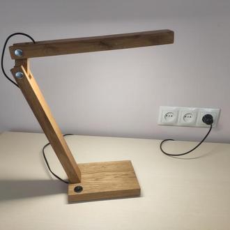 Настольная лампа LED (массив дуба)