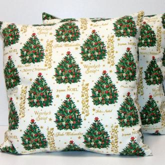 Новогодняя наволочка для подушки, декоративная наволочка для диванной подушки