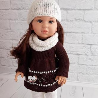 В'язана одяг на куклуПаола 40 см, подарунок дівчинці