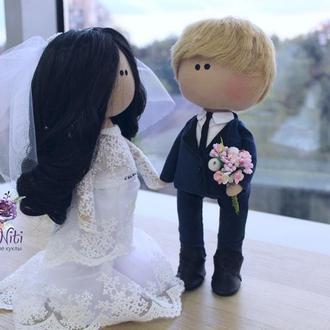 Жених и невеста подарок на свадьбу куклы свадебный подарок