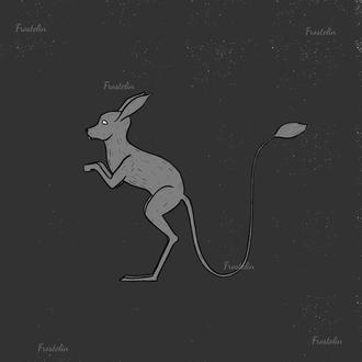 Иллюстрация редкого животного - земляной заяц