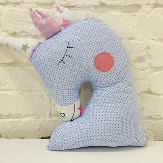 подушка единорог-игрушка сплюшка-декор в детскую-подарки для детей