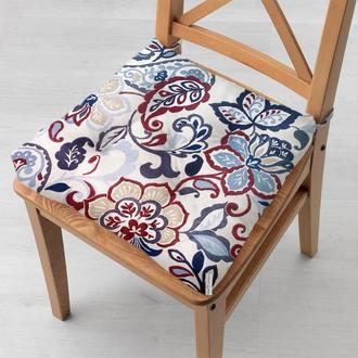 Водоотталкивающая подушка на стул с тефлоновым покрытием Time Textile Цветочный жаккард