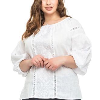 Блуза женская леда (лен белый)