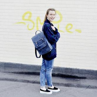 """Кожаный рюкзак """"Удачный"""""""