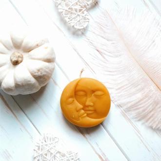 Свічка з бджолиного воску Сонце і Місяць