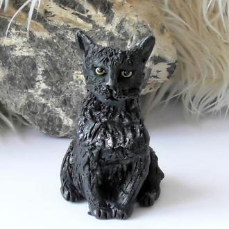 Статуэтка кошки чёрная кошка сувенир