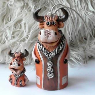 Колокольчик в виде быка  Фигурка бычок