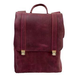 Кожаный рюкзак на клавишных замках. 01008/бордо
