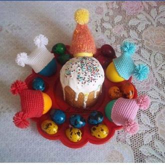 Пасхальные шапочки для яиц. Пасхальный декор.