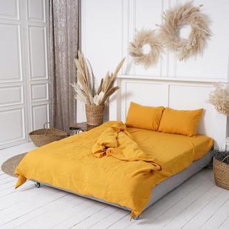 Льняное постельное белье. Постель из льна. Льняная постель