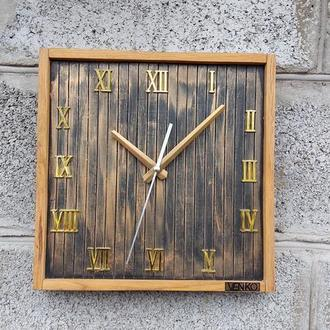 Часы настенные в современном дизайне, настенные часы, деревянные часы