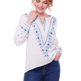 Блуза женская Желана (штапель белый)
