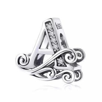 Шарма серебрянная буква А