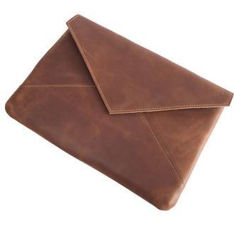 Кожаный чехол для Macbook в форме конверта. 03008коньяк