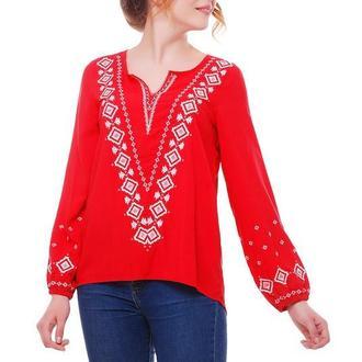 Блуза женская Желана (штапель красный)