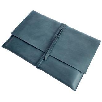 Кожаный чехол для MacBook. 03013/голубой