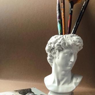 Кашпо Давид ваза подставка под ручки кисти подсвечник органайзер горшок