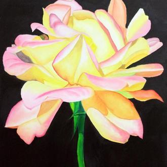 Картина маслом Роза размер 40/50