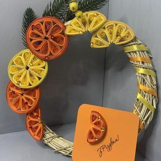 Різдвяний віночок,подарунок на новий рік,новорічний декор