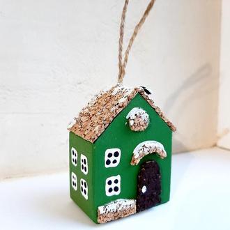 Новогодняя игрушка на елку Reindeer Moss w-001-09-550-4x6 темно зеленый