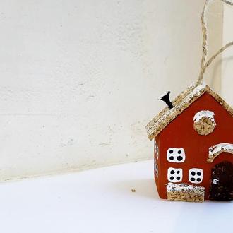 Новогодняя игрушка на елку Reindeer Moss w-001-09-700-4x6 коричневый