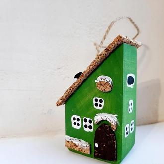 Новогодняя игрушка на елку Reindeer Moss w-001-09-550-4x9 темно зеленый
