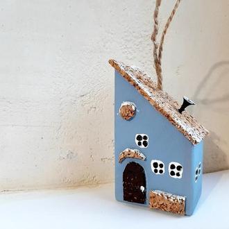 Новогодняя игрушка на елку Reindeer Moss w-001-09-450-4x9 голубой