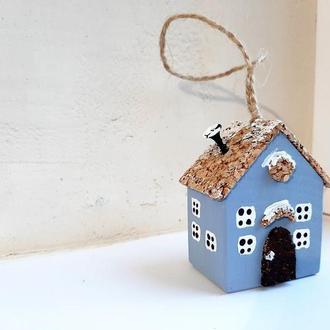 Новогодняя игрушка на елку Reindeer Moss w-001-09-450-4x6 голубой