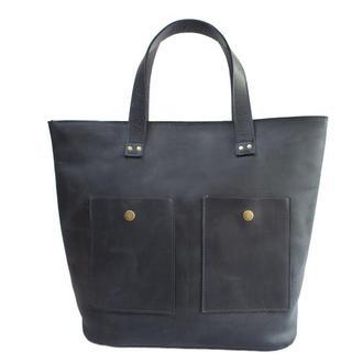 Женская сумка из натуральной кожи. 07006/синий