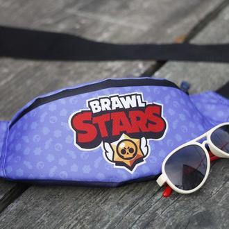 Сумка бананка Бравл Старз, Поясная сумка для детей, Сумка Brawl Stars