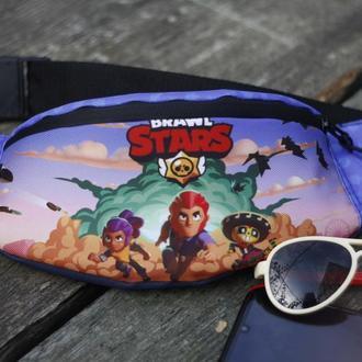"Сумка бананка Бравл Старз ""Взрыв"", Поясная сумка для детей, Сумка Brawl Stars"