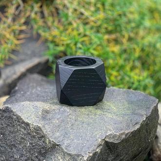 Черное деревянное кашпо 6*7 см
