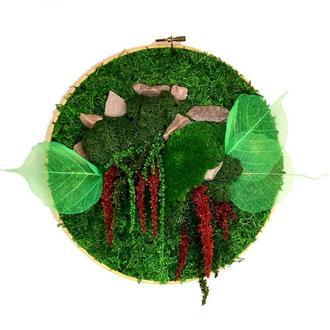 Картина из мха Reindeer Moss W20/129/04/500/27 зеленый