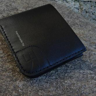 Мужское портмоне ручной работы Black KR II