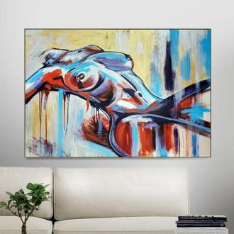 Лежача (картина масло/полотно) 100х70х2 см