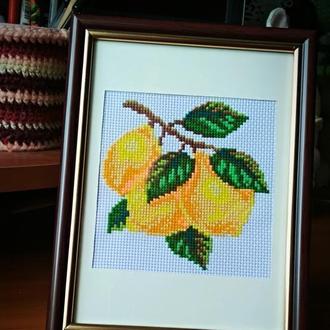"Вишита картина ""Лимони"""