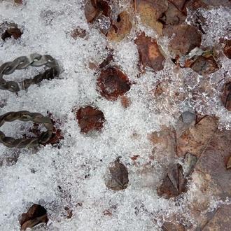 Железное кольцо викинга. Средневековое плетеное кольцо