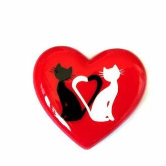 Романтичная Брошь влюбленные Коты