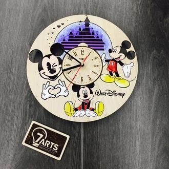 Handmade часы настенные цветные «Уолт Дисней»