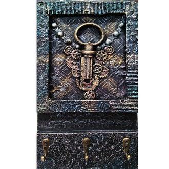 Настенная ключница Старинный ключ Декор интерьера прихожей в стиле лофт